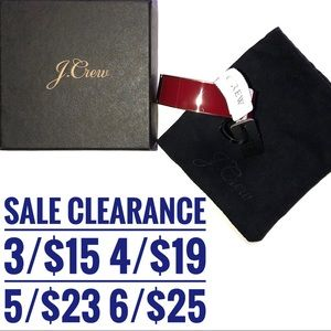 J Crew Red Bracelet NWT SALE CLEARANCE 3 for 15
